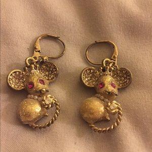 Betsey Johnson Mouse Earrings